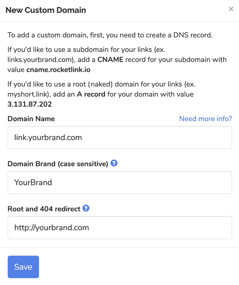 How to Set up a Custom Domain to Create Branded Links